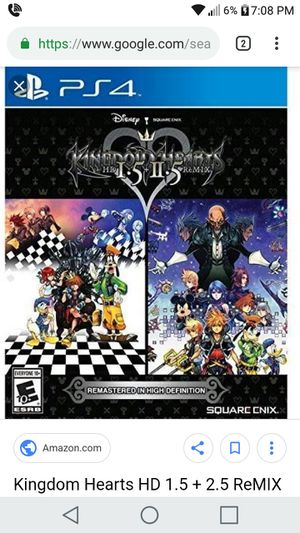 Ps4 games, kingdom hearts 1.5-2.5 HD and Tekken 7 for Sale in Orlando, FL
