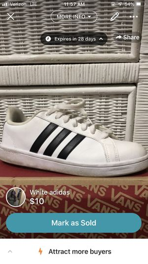 Women's white adidas size 9 for Sale in Murfreesboro, TN