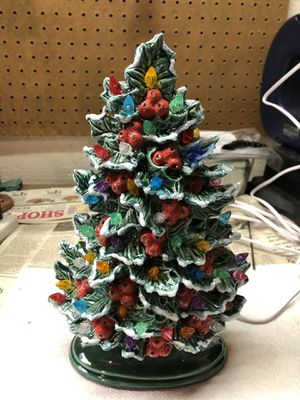 Ceramic Holly Tree 11 inches tall New Just Made for Sale in Traverse City, MI