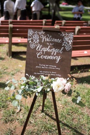 Unplugged Wedding Sign for Sale in Rockville, MD