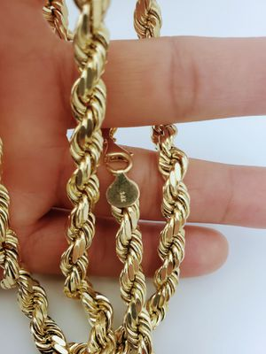 14k real solid gold rope chain ( 125-Grams ) for Sale in San Bernardino, CA