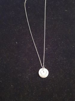 Sterling Silver Tiffany & Co Necklace with Charm for Sale in Washington,  DC