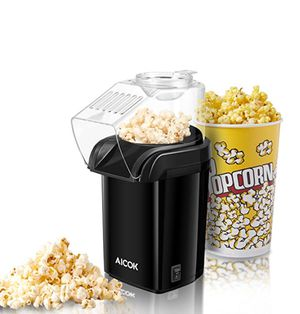 Popcorn Maker, Popcorn Machine, Hot Air Popcorn Popper No Oil Needed, With Wide Mouth Design and 1200W Power, Includes Measuring Cup and Removable Li for Sale in Barre, VT
