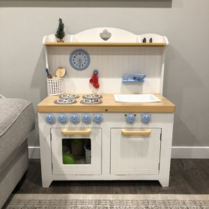 White Play Kitchen Toddler Kids Size Wooden for Sale in Federal Way, WA