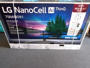 "75"" nano cell lg 4k smart led tv for Sale in Orange, CA"