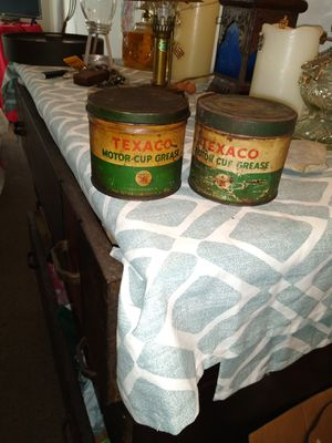 Antique Texaco grease cans for Sale in Hannibal, MO