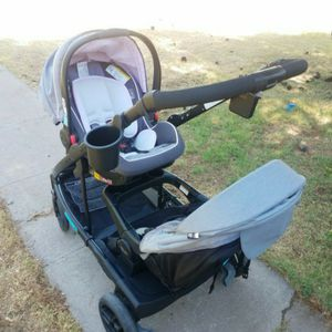 Graco Uno 2 Duo Double Stroller Gray With Pink Piping for Sale in Phoenix, AZ