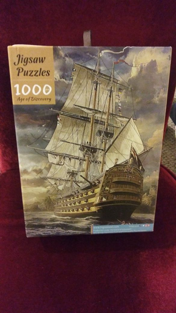 1000 piece wooden puzzle w/gift box