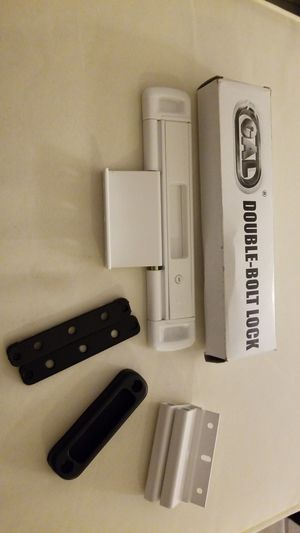 Double Bolt Lock for Glass Sliding Doors - Advanced Technology to Keep Your Family Safe and Secure - High Security Lock - Virtually Burglar Proof for Sale in Victorville, CA