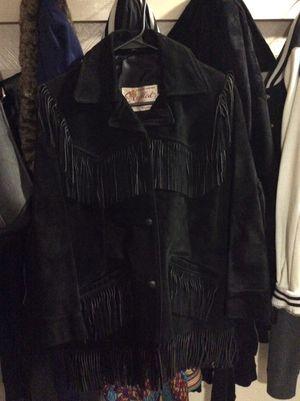 Black fringe coat for Sale in Verona, PA