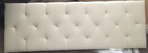 """LUCID Mid-Rise Upholstered Headboard - Adjustable Height from 34"""" to 46"""", Full/Full XL, Pearl for Sale in Bakersfield, CA"""