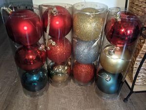 Big shatterproof indoor/ outdoor Christmas ornaments for Sale in Edmonds, WA