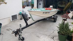 Aluminum boat for sale. Works great, tags are up to date 12ft hull, 14 with trailer for Sale in Lakewood, CA