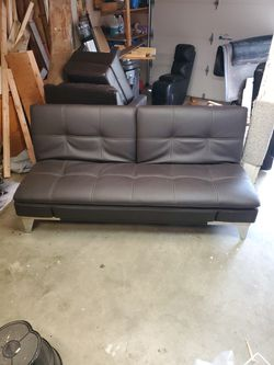 Leather Couch/Futon for Sale in Kirkland,  WA