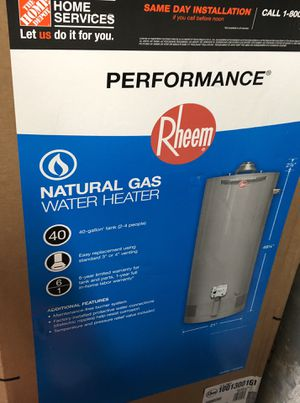 Brand new 40 gallon water heater WITH INSTALL ONLY for Sale in Philadelphia, PA