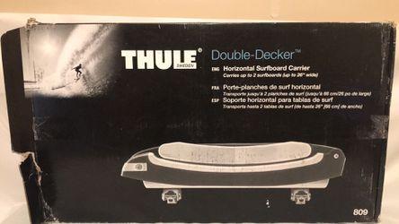 Thule 809 double decker surfboard/sup rooftop carrier for Sale in Phoenix,  AZ