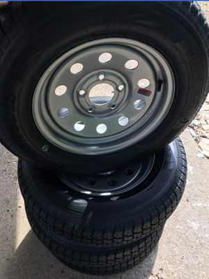 4 new wheels and tires for trailer st205/75d15 for Sale in Ferris, TX