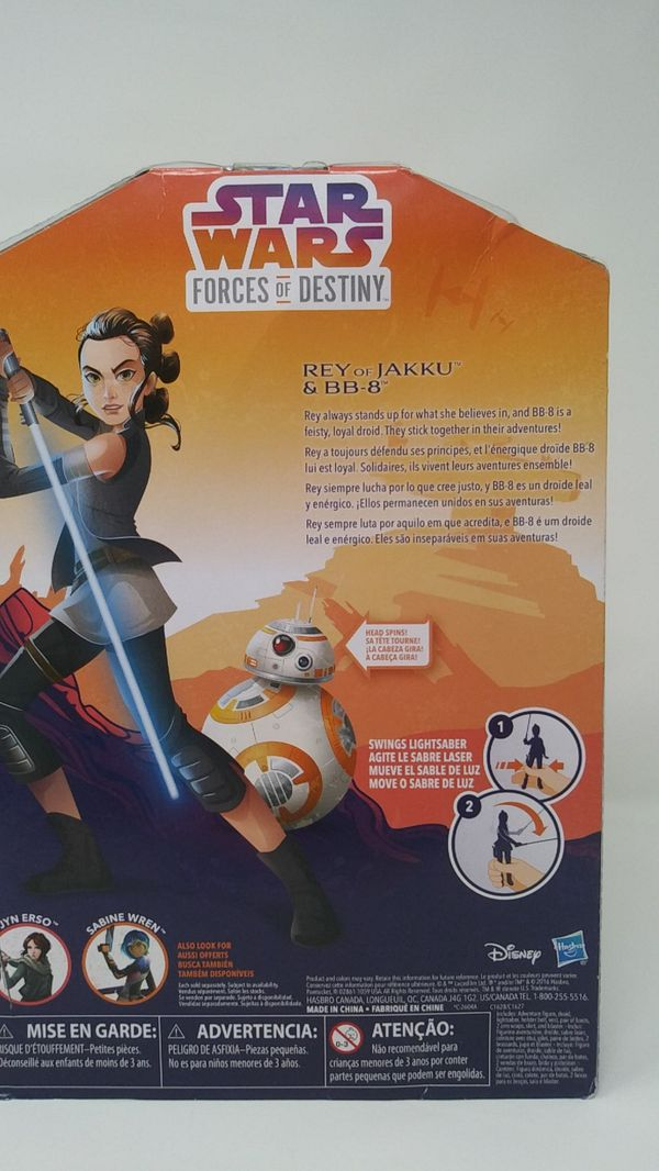Star Wars Forces of Destiny Rey of Jakku and BB-8 Adventure Set