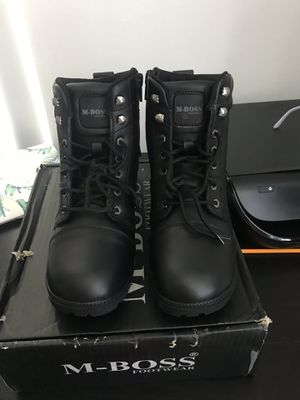 M-Boss Women's Leather motorcycle/work Boots for Sale in Miami, FL