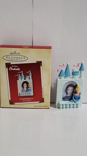 Hallmark Photo Holder Christmas Ornaments 2002 Cinderella for Sale in Seattle, WA