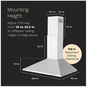 30 inch Wall Mount Range Hood Exhaust Fan for Sale in Cerritos, CA