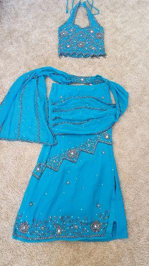 Beaded halter top and skirt dress 30 inch waist for Sale in Avondale, AZ