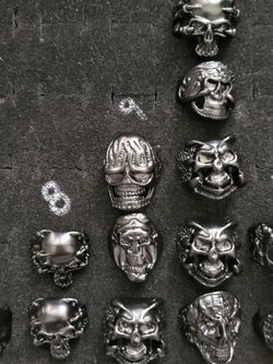 Mens Skull Rings For Sale You Choose $8each for Sale in Wenatchee,  WA