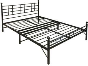 New King size Easy Set-up Steel Headboard Platform Bed [Item1052] for Sale in Irving, TX