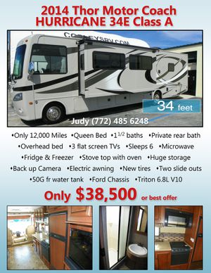 Motorhome – 2014 Thor Motorcoach Hurricane 34E Class A for Sale in Boca Raton, FL