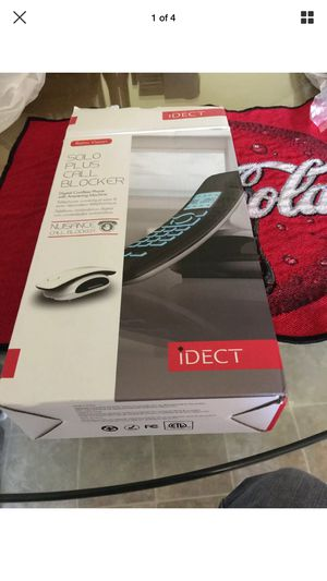 Idect Solo Plus Call Blocker Digital Cordless Phone With Answering Machine for Sale in Sioux City, IA