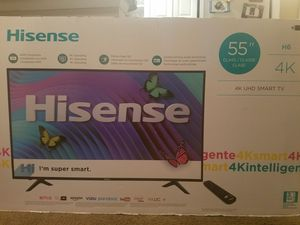"""55"""" and 50"""" inch smart tv's 1 brand new still in the box the other slightly used less then a month Televisor inteligente de 55 """"y 50"""" for Sale in Adelphi, MD"""