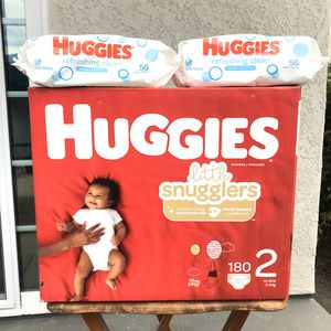 Huggies Size 2/wipes Bundle📍NO DELIVERY📍LOCATION IS POSTED📍 for Sale in Norwalk, CA