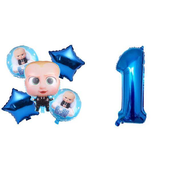 Boss Baby Theme Foil Balloons 6pcs Set.
