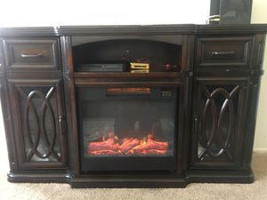 Nice and great shape fireplace tv stand for up 60 inches tv for Sale in Affton, MO