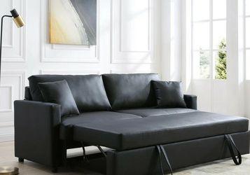 Rebecca Black PU Sleeper Sofa VENDOR MYCO for Sale in Houston,  TX