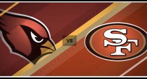 2 tickets SF 49ers vs Arizona Cardinals 11/17 Levi's stadium for Sale in Castro Valley, CA