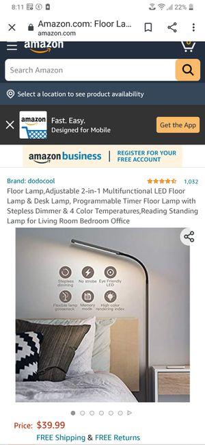 dodocool LED Floor Lamp and Desk Lamp (New) for Sale in Santa Clarita, CA