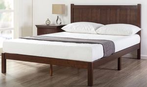 King Wooden Platform BED Brand new in Box $175 King Cool Gel Infused MEMORY FOAM MATTRESS $200 for Sale in Columbus, OH
