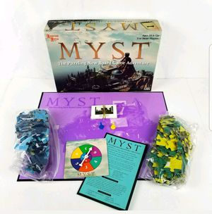 MYST Vintage Jigsaw Puzzle Board Race Adventure University Game 1998 COMPLETE for Sale in Tracy, CA