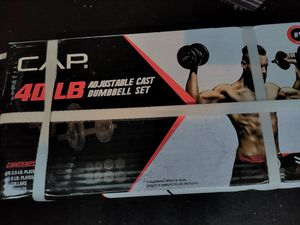 40lb Cast Iron Adjustable Dumbbells *NEW* for Sale in Avon, CT