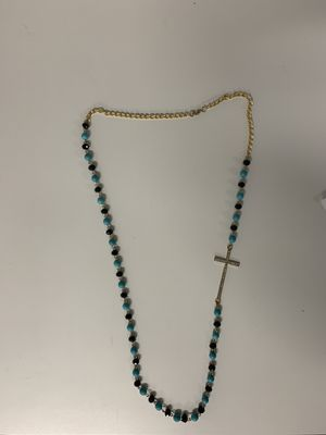 Beautiful beaded necklace with cross charm for Sale in Tacoma, WA