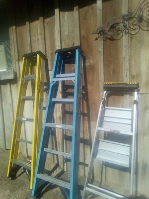2 Werner 6ft ladders 1Gorilla ladder for Sale in Caldwell, ID