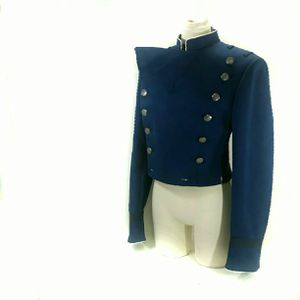 Vintage Airforce Cadet Uniform Jacket, Cropped Navy Blue Jacket, Military Airforce Dress Blues Parade Uniform for Sale in Denver, CO