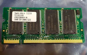 256MB Laptop Memory Upgrade 266Mhz PC2100S for Sale in Chula Vista, CA