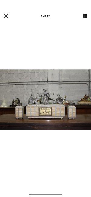 French Art Deco antique vintage clock 3 piece for Sale in Hialeah, FL