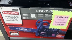 """Craftsman 46cc 18"""" gas chainsaw 7138019 for Sale in Silver Spring, MD"""