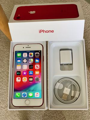 iPhone 7 Factory Unlock 128GB Available in Rose Gold/ Red Or Black for Sale in Glenview, IL