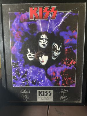 Kiss dolls action figures limited edition pez and poster pic. for Sale in Chapel Hill, NC