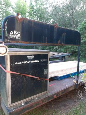 Trailer Utility box and tire rack . for Sale in Rhodesdale, MD