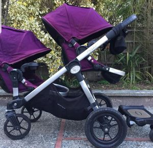 Baby Jogger city select double stroller (purple) plus skate for Sale in Chicago, IL